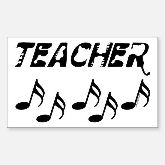 Musical Teacher Sticker (Rectangle)