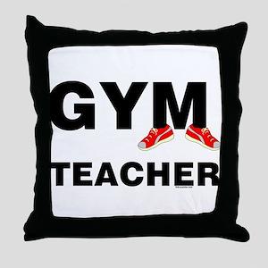 Gym Teacher Sneakers Throw Pillow