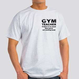 Sweaty Gym Teacher Pocket Image Light T-Shirt