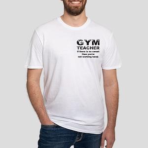 Sweaty Gym Teacher Pocket Image Fitted T-Shirt