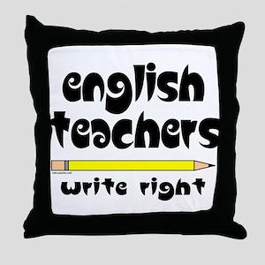 Write Right Throw Pillow