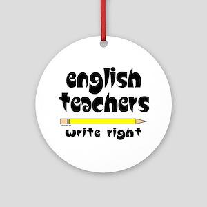 Write Right Ornament (Round)