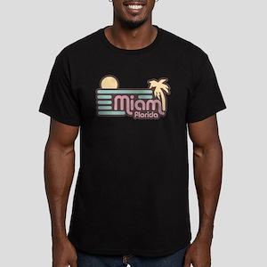 Miami Florida Men's Fitted T-Shirt (dark)