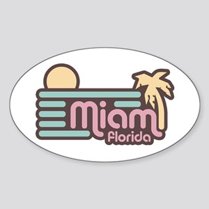 Miami Florida Sticker (Oval)