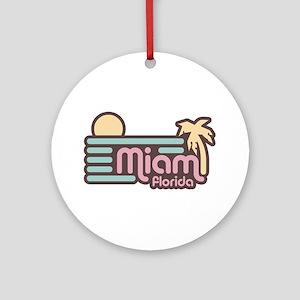Miami Florida Ornament (Round)