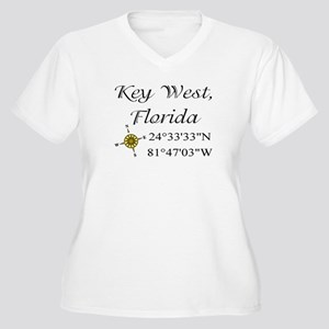 Geocaching Key West, Florida Women's Plus Size V-N