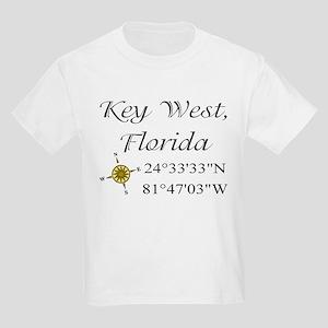 Geocaching Key West, Florida Kids Light T-Shirt