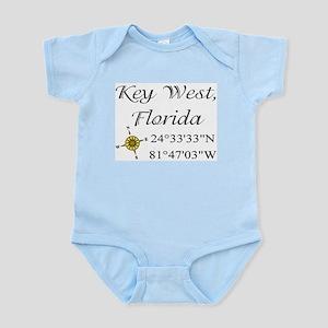 Geocaching Key West, Florida Infant Bodysuit