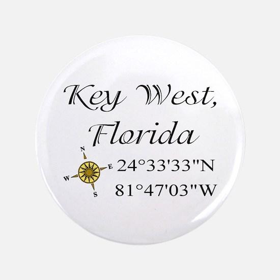 "Geocaching Key West, Florida 3.5"" Button"