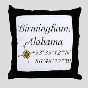 Birmingham, Alabama Throw Pillow