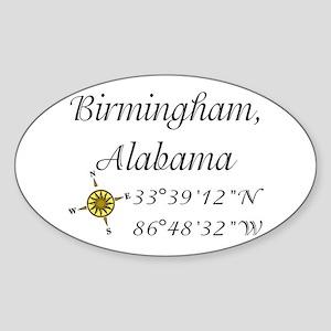 Birmingham, Alabama Sticker (Oval)