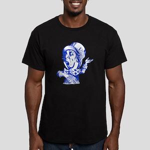 Mad Hatter Blue Men's Fitted T-Shirt (dark)