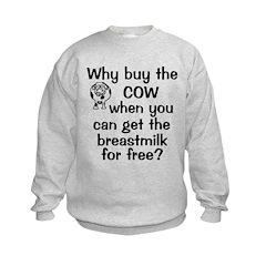 Why Buy Cow Breastmilk Free Sweatshirt