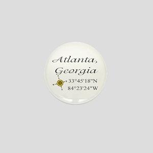 Geocaching Atlanta, Georgia Mini Button