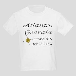 Geocaching Atlanta, Georgia Kids Light T-Shirt