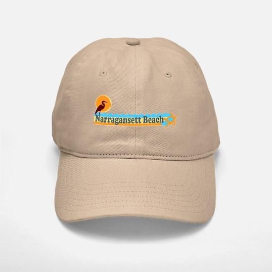 Narragansett RI - Beach Design Baseball Baseball Cap