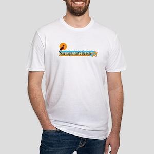 Narragansett RI - Beach Design Fitted T-Shirt