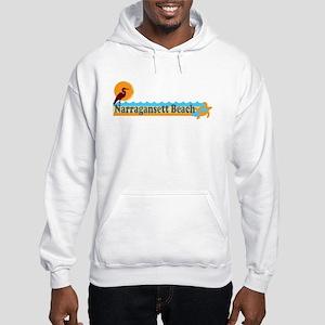 Narragansett RI - Beach Design Hooded Sweatshirt