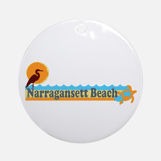 Narragansett RI - Beach Design Ornament (Round)