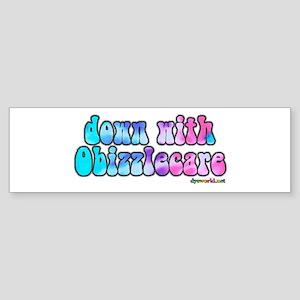 Down With Obizzlecare Sticker (Bumper)