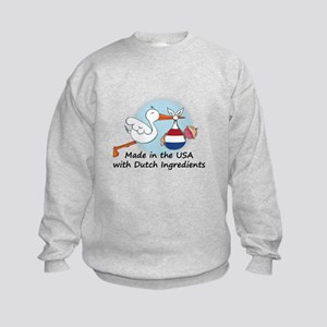 Stork Baby Netherlands USA Kids Sweatshirt