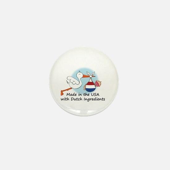 Stork Baby Netherlands USA Mini Button