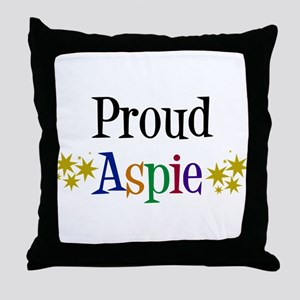 Proud Aspie Throw Pillow