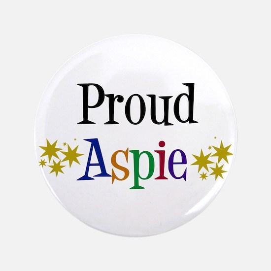 """Proud Aspie 3.5"""" Button"""