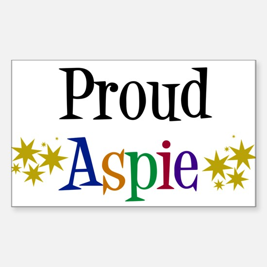 Proud Aspie Sticker (Rectangle)