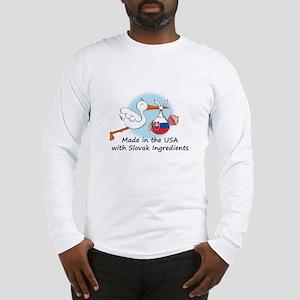 Stork Baby Slovakia USA Long Sleeve T-Shirt