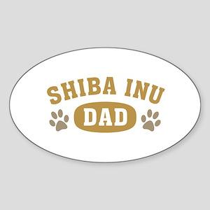 Shiba Inu Dad Sticker (Oval)