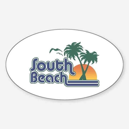 South Beach Sticker (Oval)