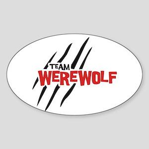 Team Werewolf Sticker (Oval)