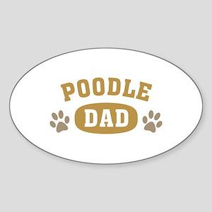 Poodle Dad Sticker (Oval)
