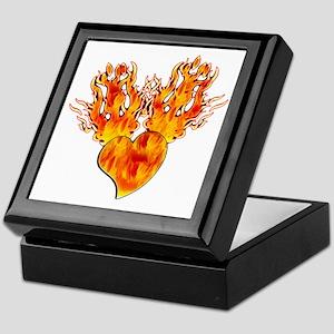 Flaming Heart Keepsake Box