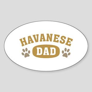 Havanese Dad Sticker (Oval)