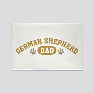 German Shepherd Dad Rectangle Magnet