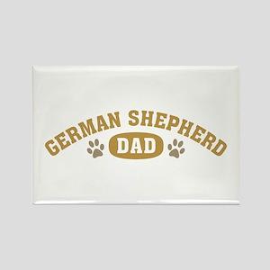 German Shepherd Dad Rectangle Magnet