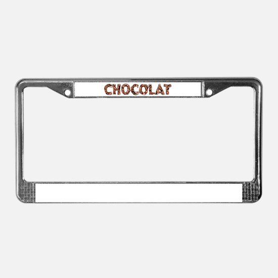 Chocolat License Plate Frame
