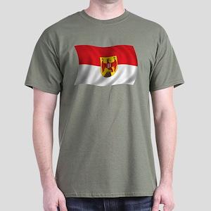 Wavy Burgenland Flag Dark T-Shirt