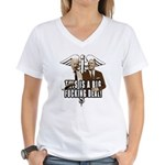 This is a big fucking deal Women's V-Neck T-Shirt