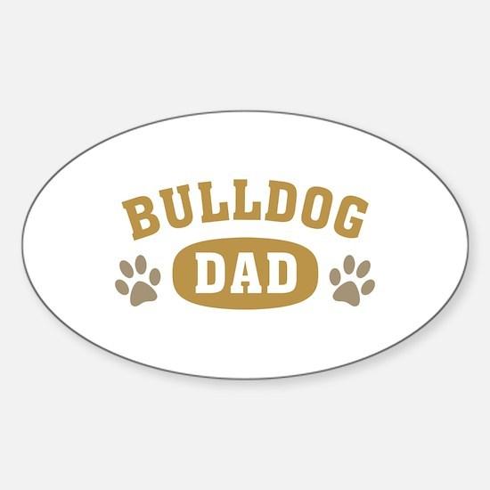 Bulldog Dad Sticker (Oval)