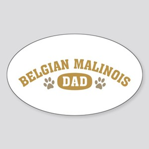 Belgian Malinois Dad Sticker (Oval)
