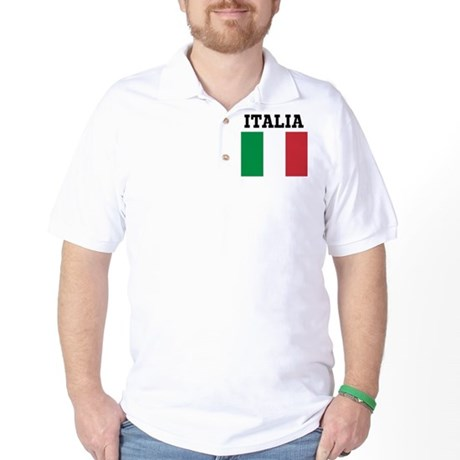Italy Flag T-shirt Golf Shirt