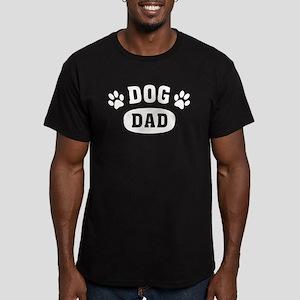 Dog Dad Men's Fitted T-Shirt (dark)