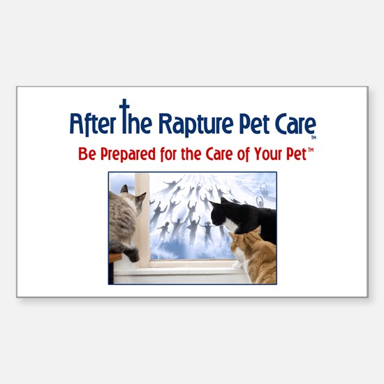 Cats at Window Rapture Gear Sticker (Rectangle)