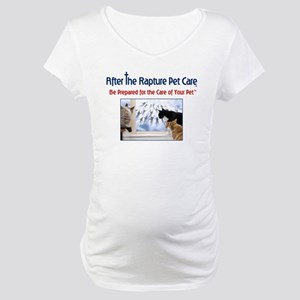 Cats at Window Rapture Gear Maternity T-Shirt