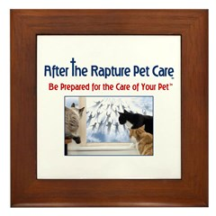 Cats at Window Rapture Gear Framed Tile
