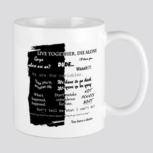 best lines lost text only Mugs