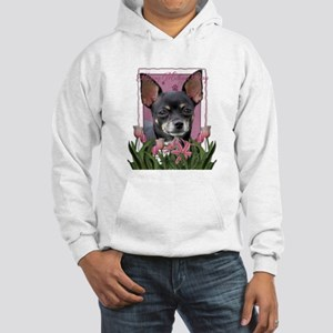 Pink Tulips - Chihuahua Hooded Sweatshirt